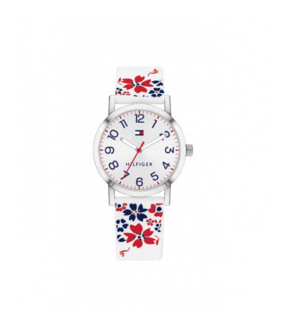 Reloj Tommy Hilfiger Niña Silicona Blanca Estampada - 1782173