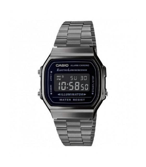 Reloj Casio Unisex Vintage Iconic Digital Gris Oscurecido - A.168WEGG.1BEF