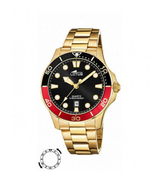 Reloj Lotus Excellent Hombre Acero inoxidable IP dorado - 18761/6