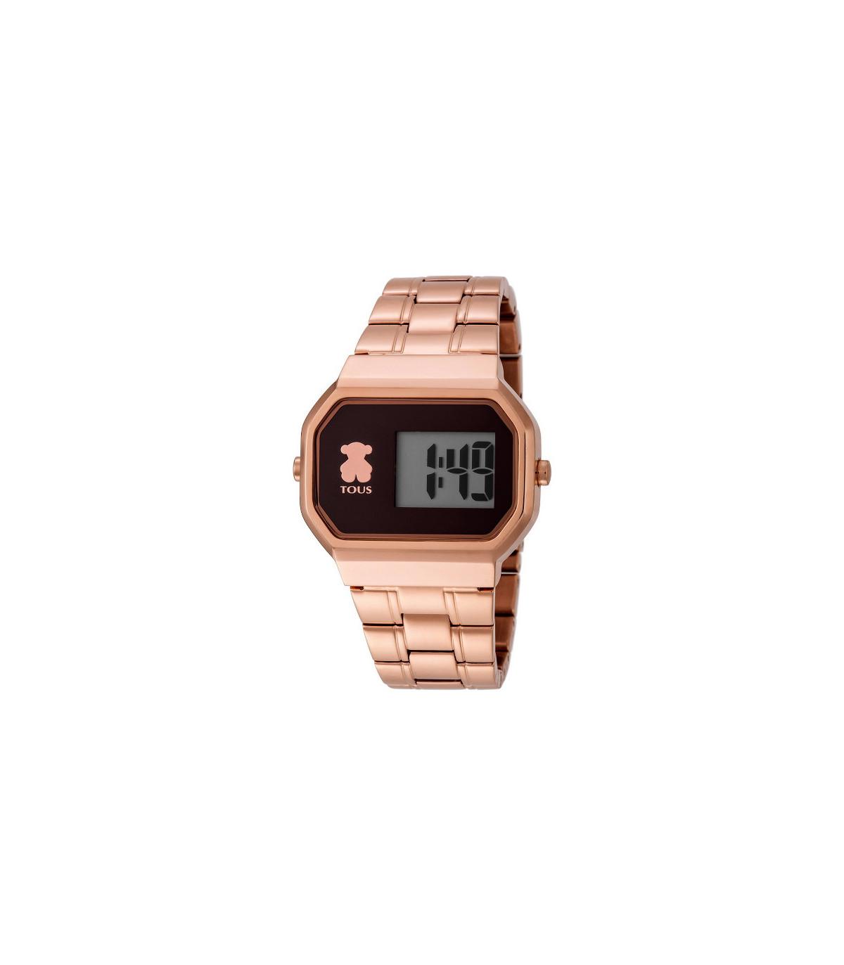 Reloj D-Bear digital de acero IP rosado - 600350305